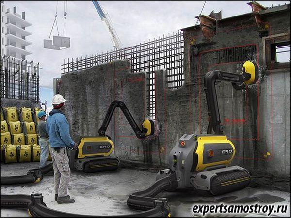 Демонтаж на бетон с помощта на робота