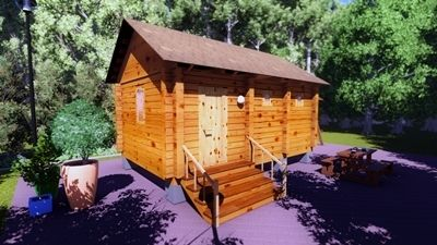 Дървена баня от фирма