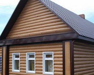 Метална блок къща под дърво - цветове, монтаж, облицовка