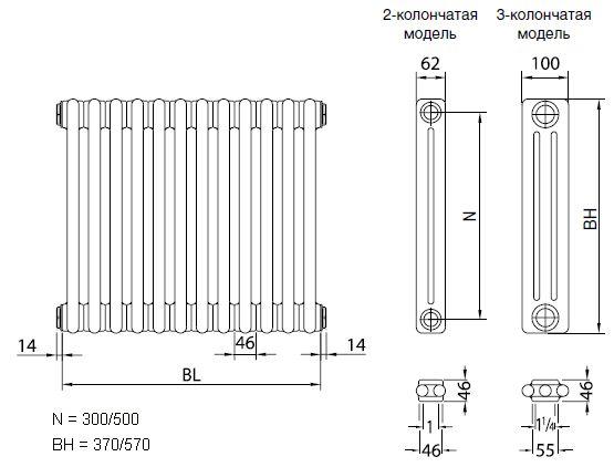 Долно свързване на функциите и предимствата на отоплителните радиатори