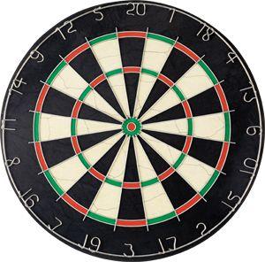 Правилата за точките за дартс, размера на целта и разстоянието до