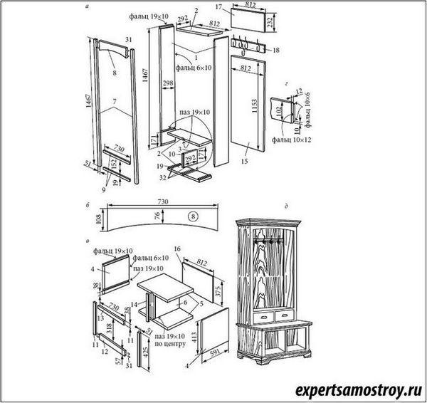 Шкафът в коридора със собствените си ръце