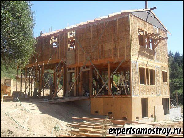 Изграждане на къща от слама блокове