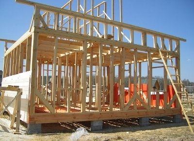 Дървена рамка за дома
