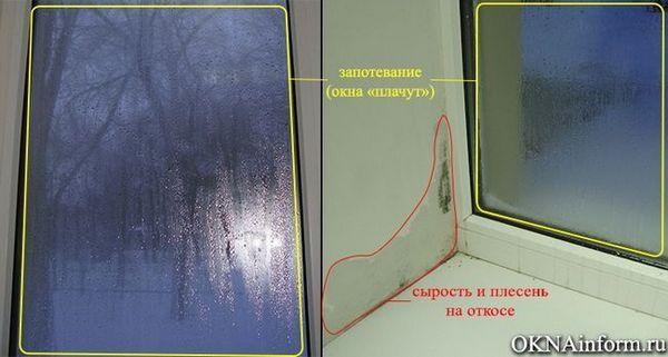 Замръзване прозорци и плесен на склоновете Влага и гъби по стените Как да се избегне, премахване